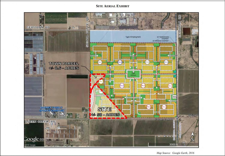 Barney Farms Queen Creek Site - Aerial Exhibit